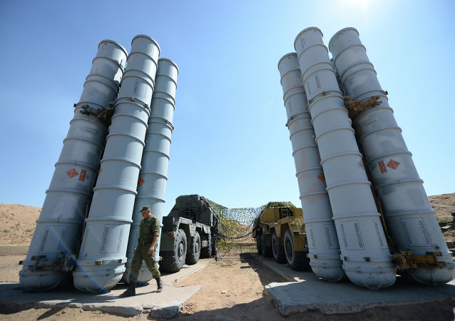 Military exercise involving S-300 surface-to-air missile systems