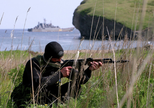 Russian reconnaissance troops held exercises