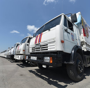 Humanitarian aid convoy for southeastern Ukraine about to depart from Rostov Region