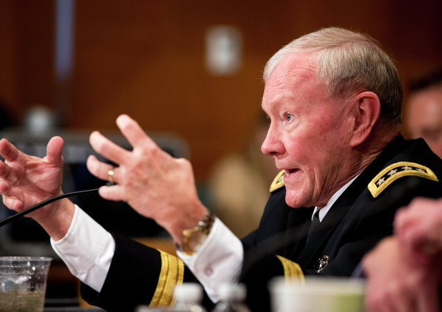 Joint Chiefs Chairman Gen. Martin Dempsey testifies on Capitol Hill in Washington, Wednesday, May 6, 2015