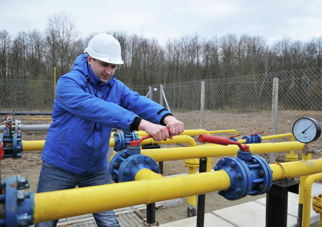 Compression unit of Krekhovskoye natural gas field in Ukraine