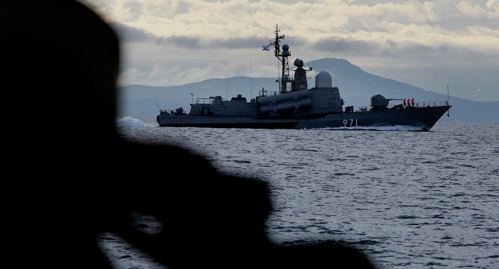 A Pacific Fleet missile boat during an exercise