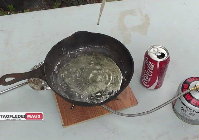 COKE vs Molten LEAD - Beautiful Surprise!