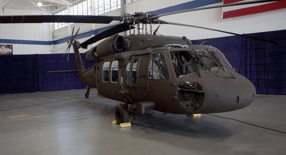 The latest version of the Sikorsky UH-60M Black Hawk helicopter is seen at the Sikorsky Aircraft plant in Stratford, Conn., Monday, July 31, 2006