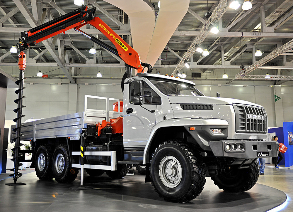A drilling truck variant of the new Ural Next