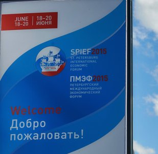 Preparations for opening of St Petersburg International Economic Forum