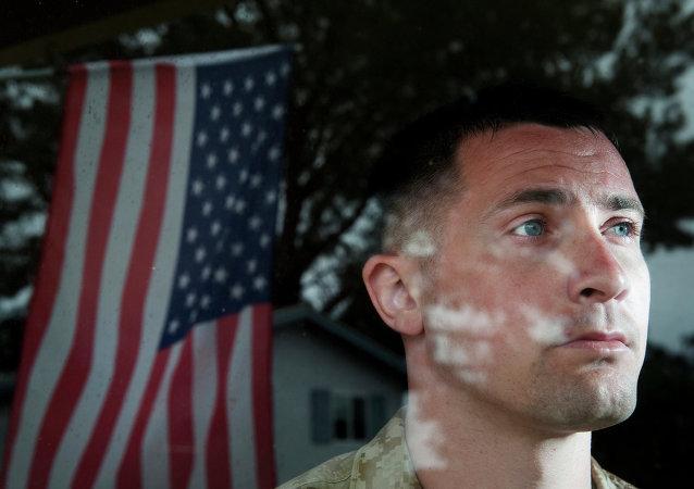 US Marine Sergeant Lawrence Hutchins III