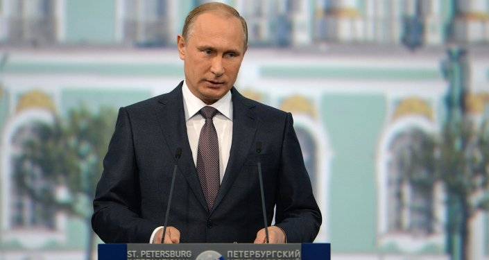 Vladimir Putin attends St. Petersburg International Economic Forum
