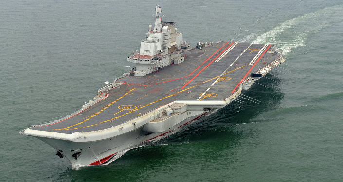 Chinese aircraft carrier Liaoning cruises for a test in the sea (File photo)
