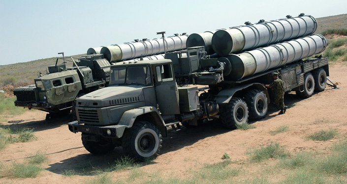 An S-300 surface-to-air missile system.