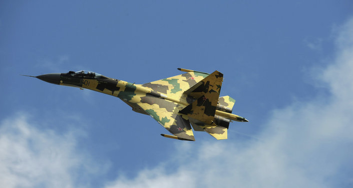 A Sukhoi Su-35 fighter