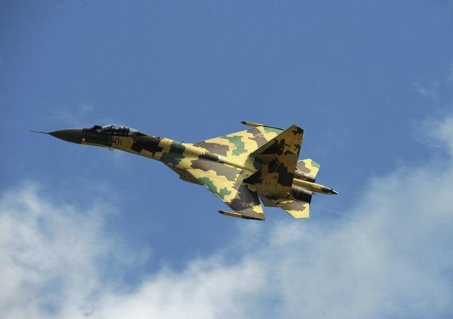 A Sukhoi Su-35 fighter