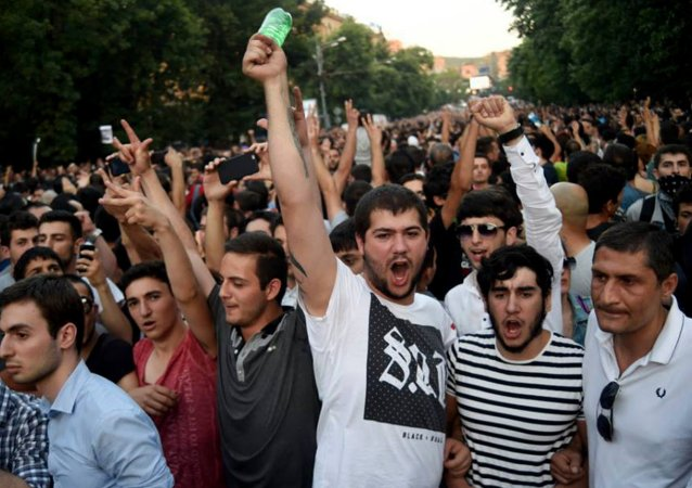 Protest in Yerevan