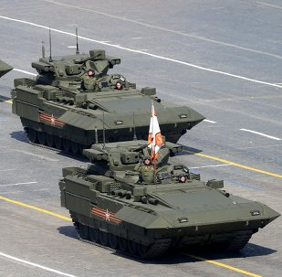 An infantry fighting vehicle T-15 with the Armata Universal Combat Platform