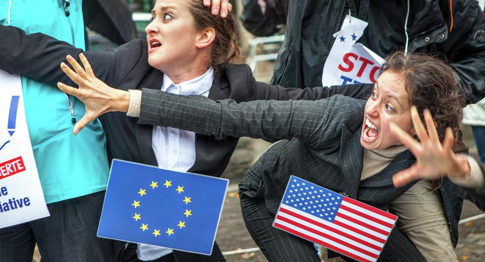 Protest against TTIP and CETA