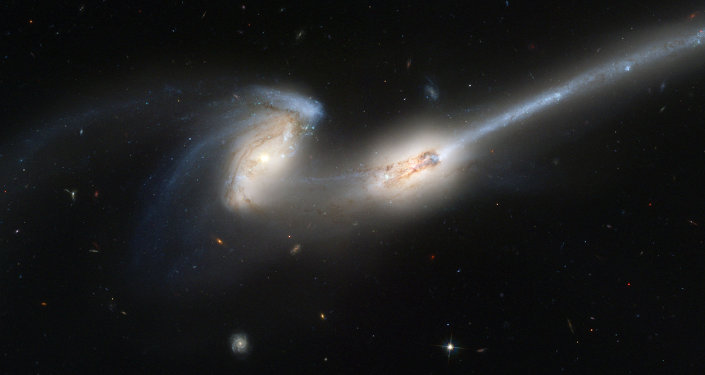 Mice Galaxies, 300 million light-years away.