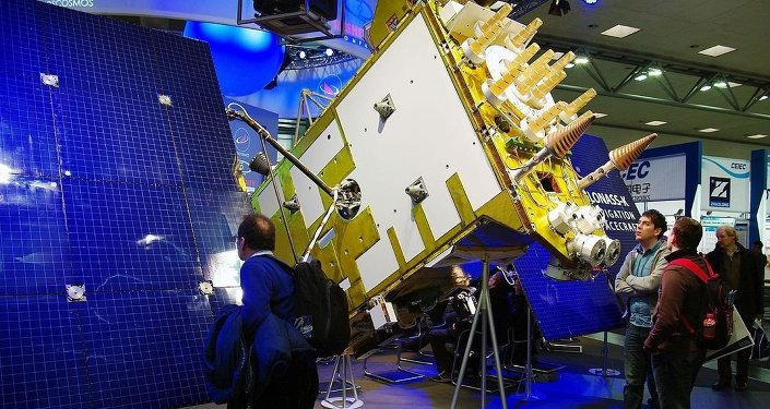 Glonass-K model at the CeBIT exhibition