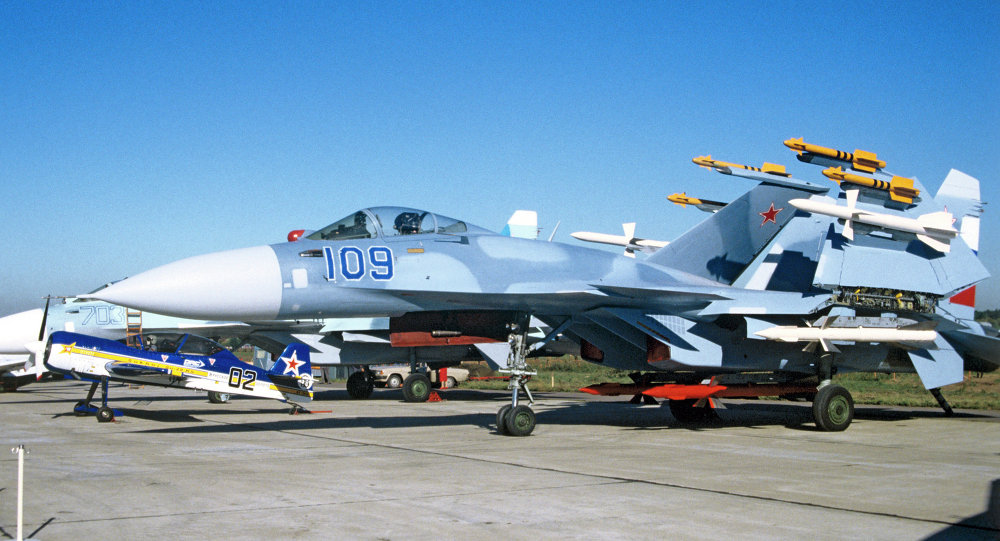 The Su-33, a carrier-based warplane developed on the platform of the Su-27.