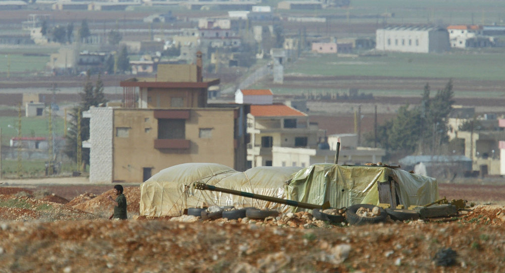 Syrian troops man a military position off a main road in eastern Lebanon's Bekaa Valley