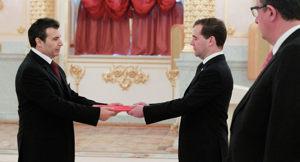 Dmitry Medvedev receives credentials from ambassadors