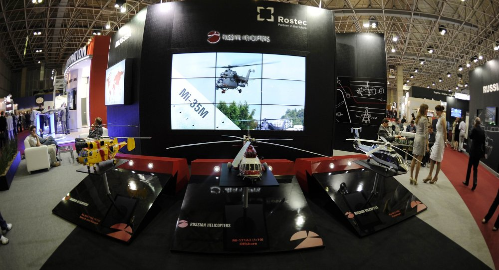 The Russian Rostec stand