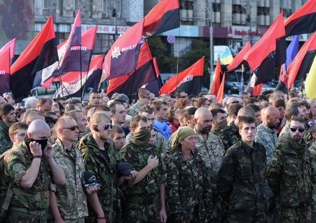 Right Sector public meeting in Kiev