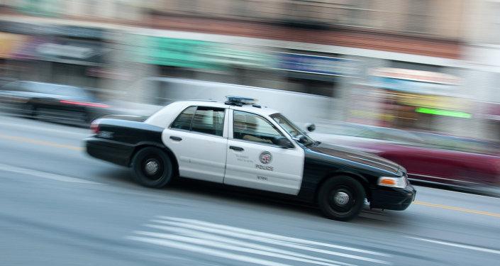 A police car in Los Angeles
