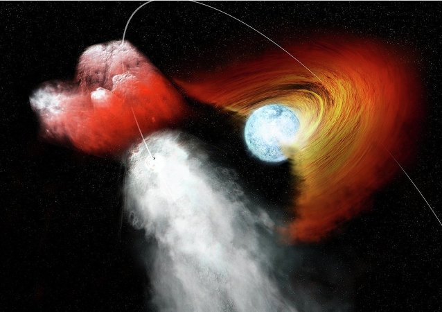 Pulsar Punches Hole in Stellar Disk