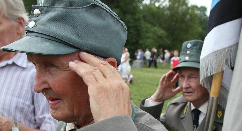 Veterans of 20th Waffen Grenadier Division of SS (1st Estonian) meet in Estonia. File photo.