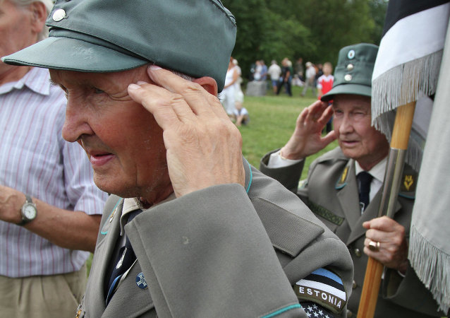 Veterans of 20th Waffen Grenadier Division of SS (1st Estonian) meet in Estonia. File photo.