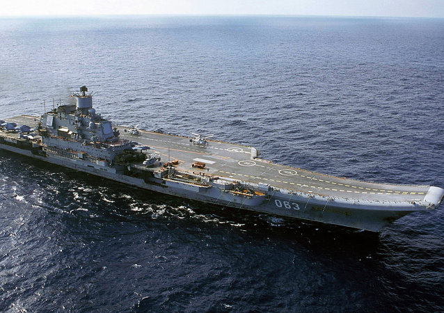 The Russian navy's Admiral Kuznetsov aircraft cruiser. file photo