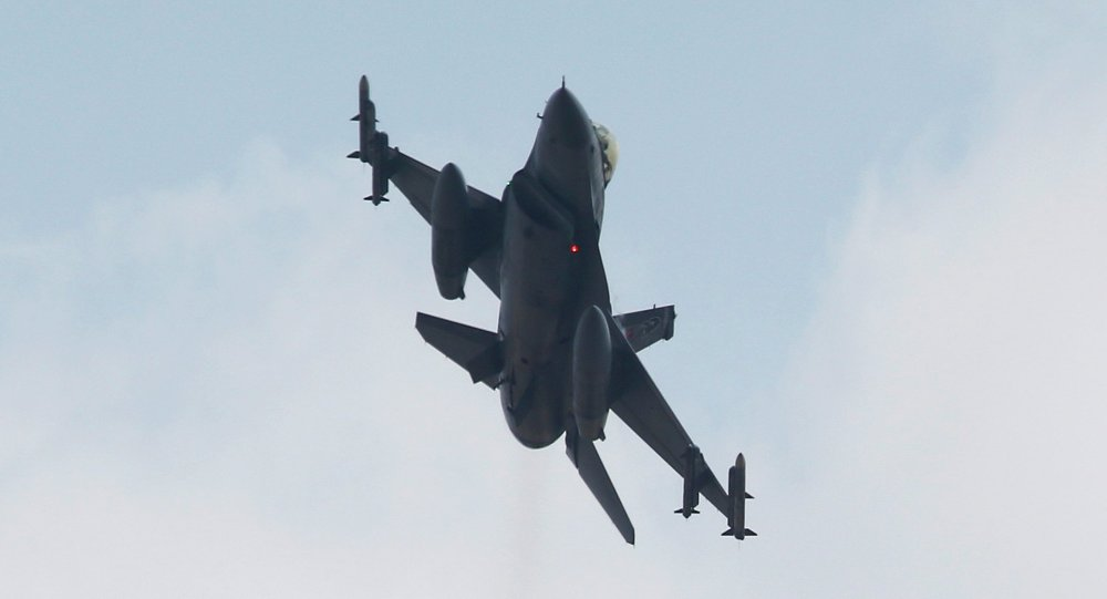 A Turkish F-16 fighter jet takes off from Incirlik airbase in the southern city of Adana, Turkey, July 27, 2015