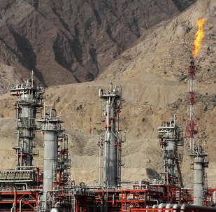 Gas refinery at the South Pars gas field on the northern coast of Persian Gulf in Asalouyeh, Iran