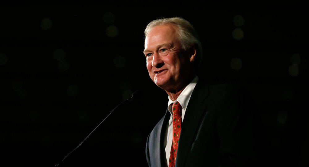 Democratic presidential candidate former Rhode Island Gov. Lincoln Chafee speaks during the Iowa Democratic Party's Hall of Fame Dinner, Friday, July 17, 2015, in Cedar Rapids, Iowa