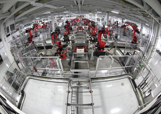 Robots at factory