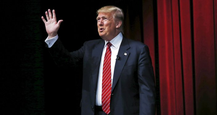 US Republican presidential candidate Donald Trump arrives to speak at the Family Leadership Summit in Ames, Iowa, United States, July 18, 2015