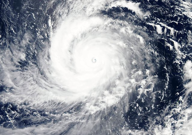 A visible-light image of Super typhoon Soudelor is seen in the Western Pacific Ocean in this NASA satellite image taken at 12:10 ET (04:10 GMT) August 4, 2015