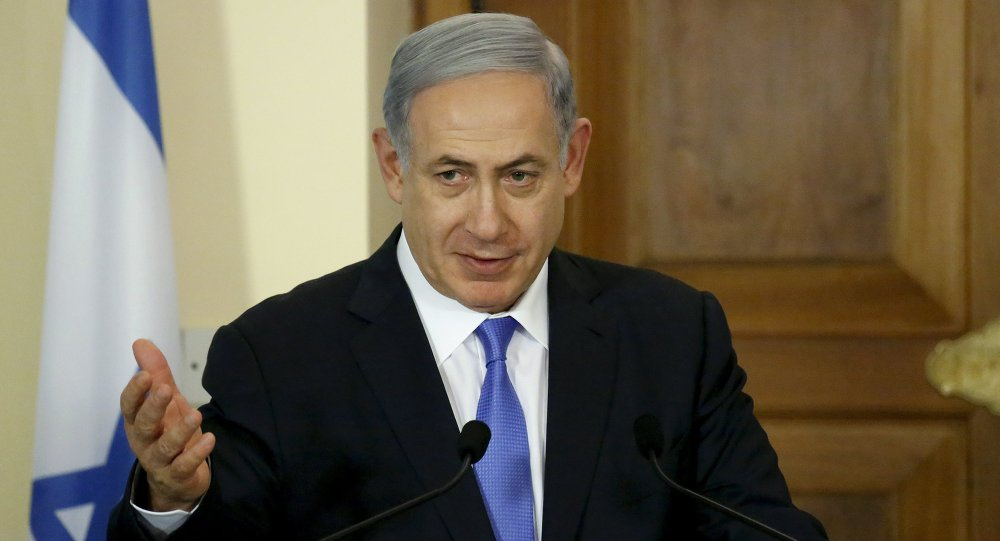 Israeli Prime Minister Benjamin Netanyahu speaks during a news conference at the presidential palace in capital Nicosia, Cyprus, July 28, 2015