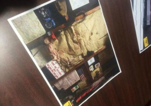 A confederate flag, KKK memorabilia, and Nazi imagery were among the items found in the home where O'Neill was living with his step-father.
