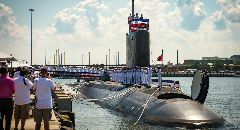 Unveiling of the USS John Warner