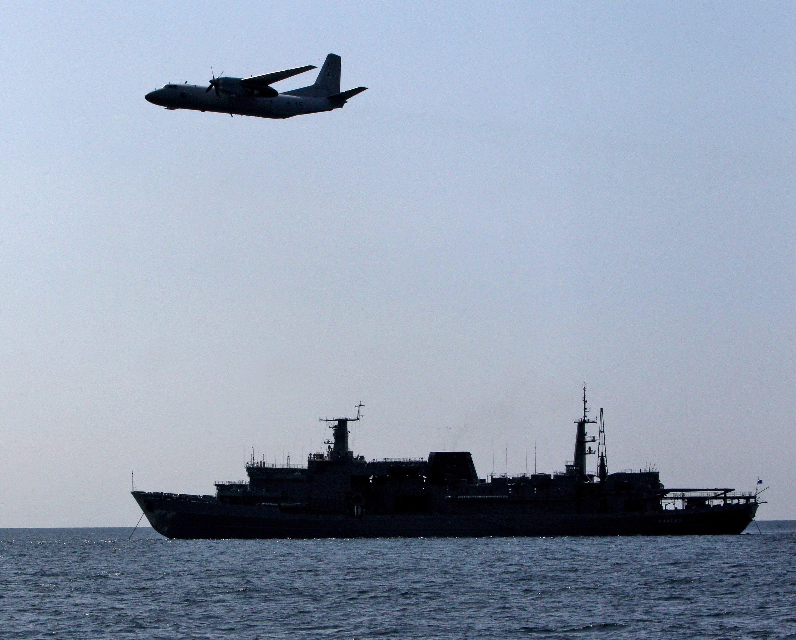 An-26 aircraft of thje Pacific Fleet conducts search of a recovery capsule. File photo
