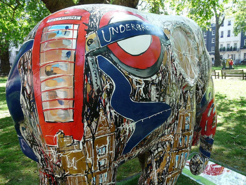 'Iconic London' elephant at Berkeley Square, London