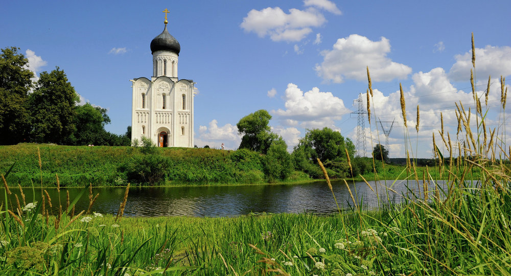 The Church of the Intercession on the Nerl, 1.5km from the village of Bogolyubovo in the Vladimir Region.