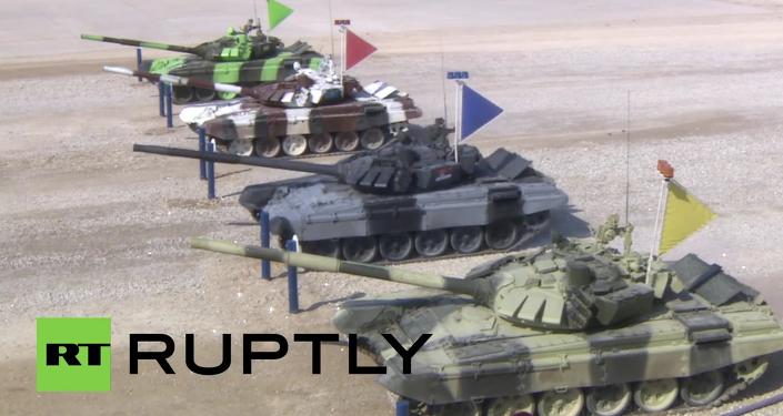Russia: Tank Biathlon 2015 semi-finals held outside Moscow