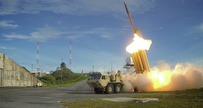 Two Terminal High Altitude Area Defense (THAAD) interceptors are launched during a successful intercept test. file photo