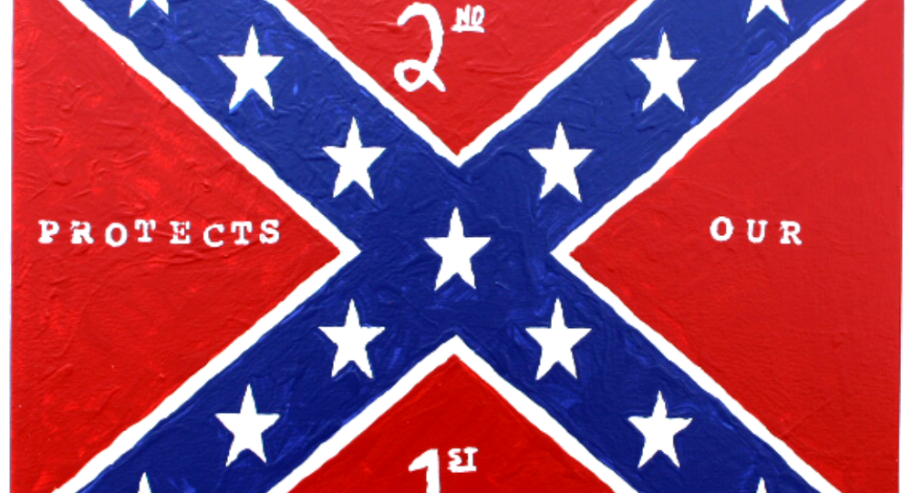 George Zimmerman's painting of the Confederate flag.