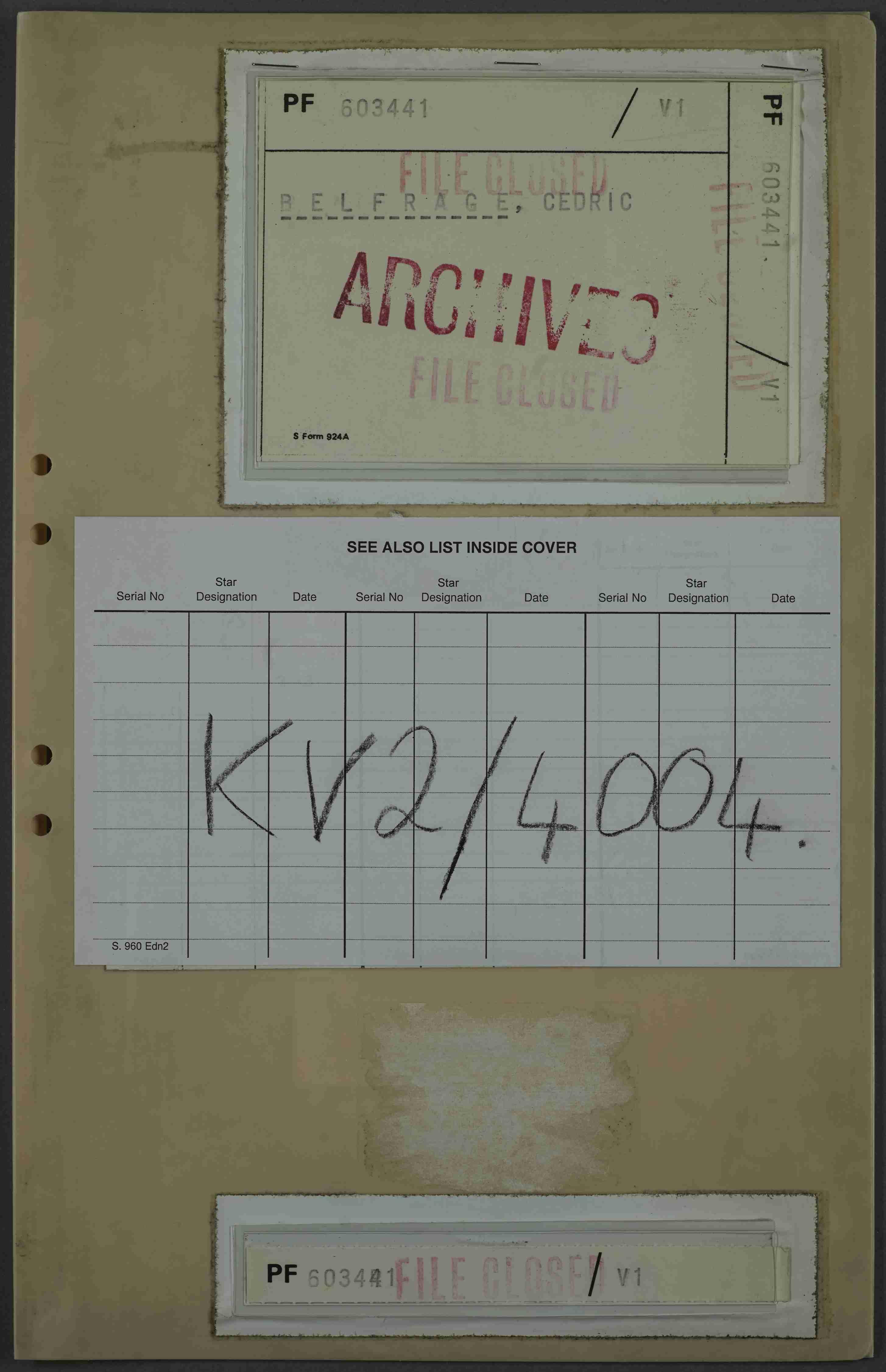 The Belfrage File