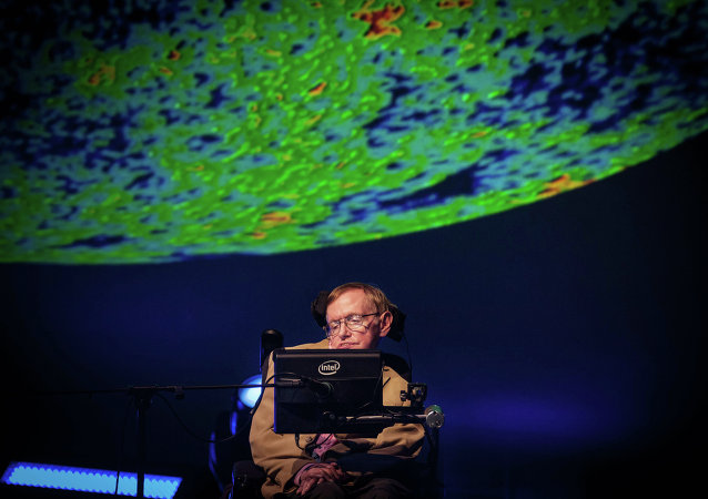 British theoretical physicist professor Stephen Hawking gives a lecture during the Starmus Festival on the Spanish Canary island of Tenerife on September 23, 2014