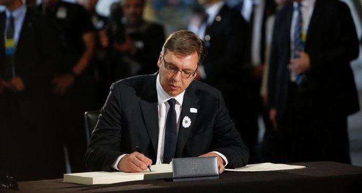 Aleksandar Vucic, Serbia's prime minister. File photo