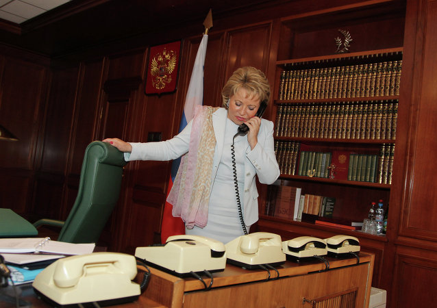 Interview with Federation Council speaker Valentina Matvienko